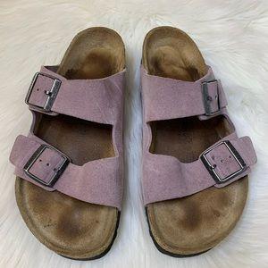 Birkenstock Suede Lavender Sandals Size 40